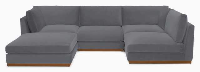 Holt Armless U-Sofa Sectional - Joybird