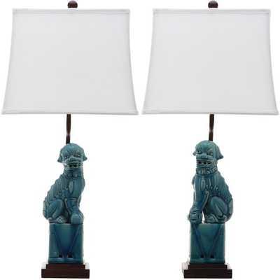 "Mcchristian Foo Dog 28"" Table Lamp (set of 2) - Wayfair"