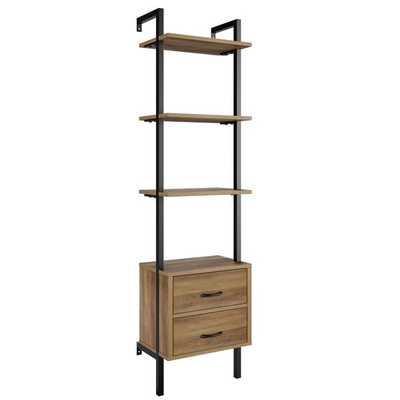 "Sikeston 72.4"" H x 18.9"" W Metal Ladder Bookcase with Bins - Wayfair"