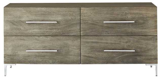 Link Grey Wash Acacia Low Chest - CB2