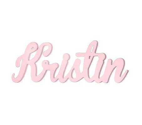 Cursive Font Name, Pink - Pottery Barn Kids