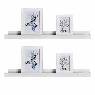 Andi Photo Ledge Picture Display Floating Shelf - Set of 2 - Wayfair