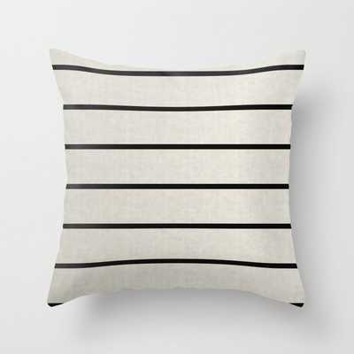 "Stripes Black/White Throw Pillow (18"" Outdoor, insert included) - Society6"