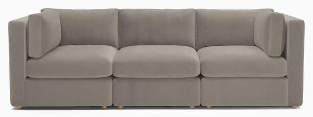 Beige Logan Mid Century Modern Modular Sofa - Prime Stone - Joybird