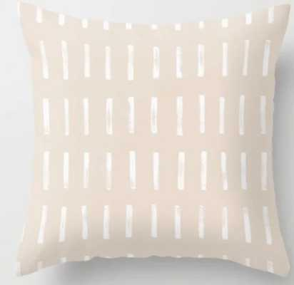 Dash Blush Throw Pillow, 18x18 with insert - Society6