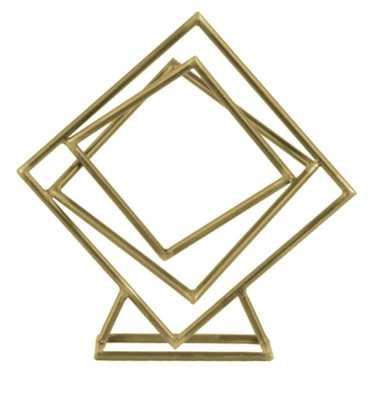 Metal Tangled Squares Abstract Sculpture - Wayfair