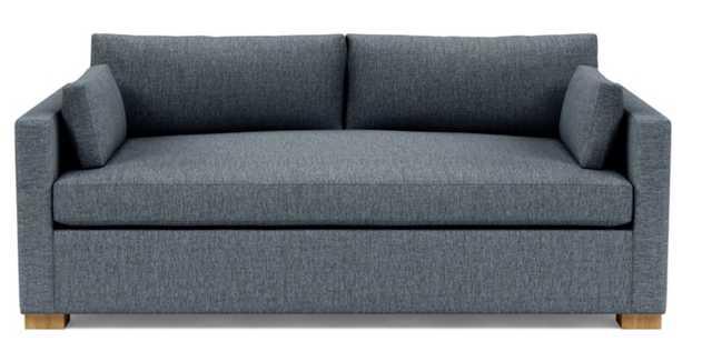 "CHARLY Custom Fabric Sofa - 103"", Rain, Oak Legs - Interior Define"