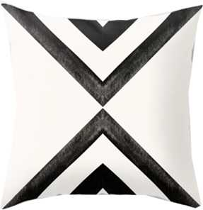 Converging Triangles Black and White Moroccan Tile Pattern Throw Pillow 18x18 - Society6