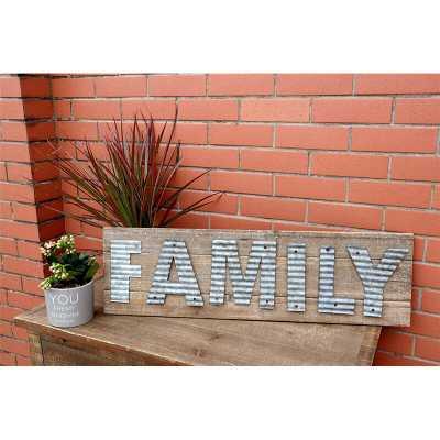 Family Reclaimed Barn Wood Plank Wall Décor - Wayfair