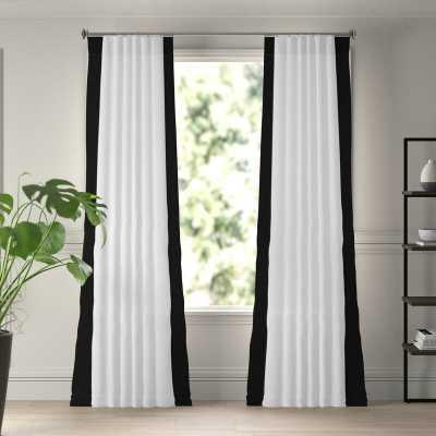 Winsor Cotton Solid Light Filtering Rod Pocket Single Curtain Panel - Wayfair