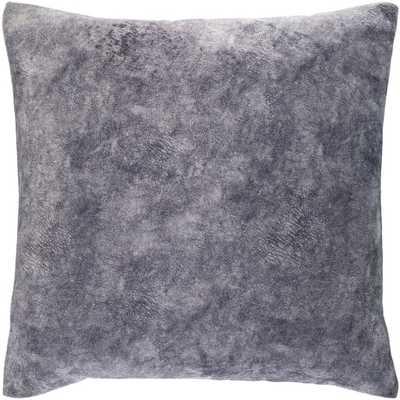 "Fine Velvet Pillow, Navy, 20""x20"" - Havenly Essentials"