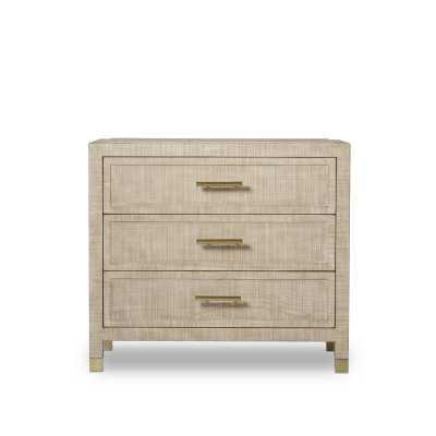 Resource Decor Raffles Modern Classic Wood Frame 3 Drawer Nightstand - Perigold