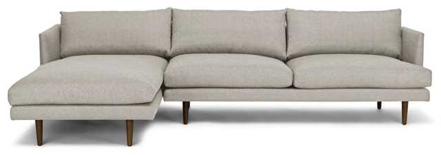 Burrard SeaSalt Gray Left Sectional Sofa - Article