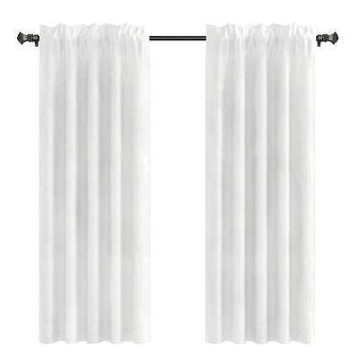 "Capra Drapery Solid Curtain Panels -  96"", set of 2 - Wayfair"