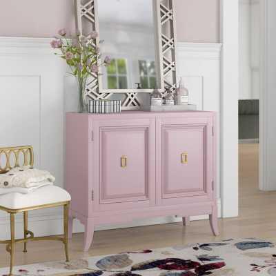 Mettler 2 Door Accent Cabinet - Blush - Wayfair