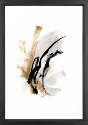 Live Your Color no.5 - Black, White, Gold, Abstract, Modern, Minimal Painting Framed Art Print - Society6