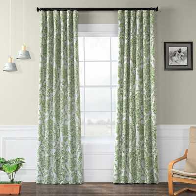 Bryton Paisley Synthetic Blackout Thermal Rod Pocket Single Curtain Panel - Wayfair