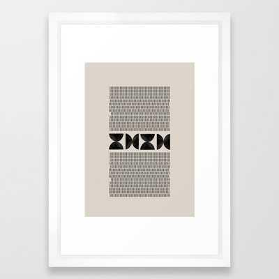 "Mid Century Modern Geometric Framed Art Print, 15"" x 21"" - Society6"