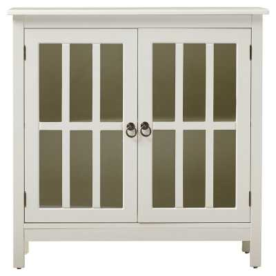 Purdue with Wooden Top 2 Door Accent Cabinet - Wayfair