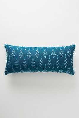 Ikat Pillow - indigo - Anthropologie