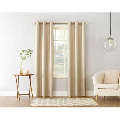 Cooper Textured Solid Room Darkening Thermal Insulated Grommet Single Curtain Panel - Wayfair