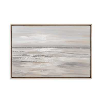 'Silver Landscape' - Picture Frame Print on Canvas - Birch Lane