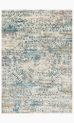 KT-05 Ivory / Blue Rug -  12 x 15' - Loma Threads