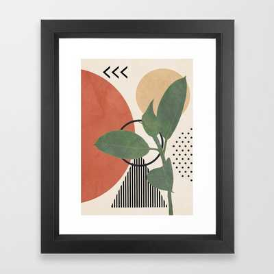 """Nature Geometry III Framed Art Print by City Art with Vector Black Frame - 10""""x12"""" - Society6"""