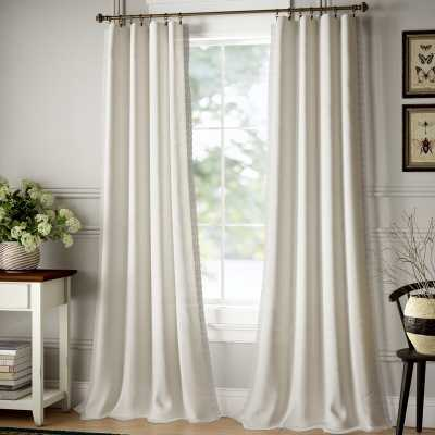 Kipp Solid Semi-Sheer Rod Pocket Curtain Panels (Set of 2) - Wayfair