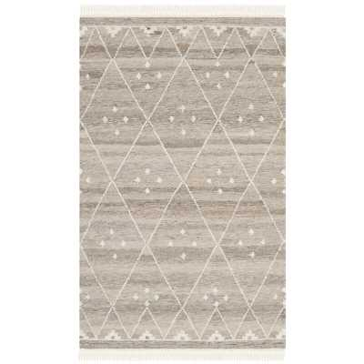 Aldergrove Handwoven Wool Natural/Ivory Area Rug - 9 x 12 - Wayfair
