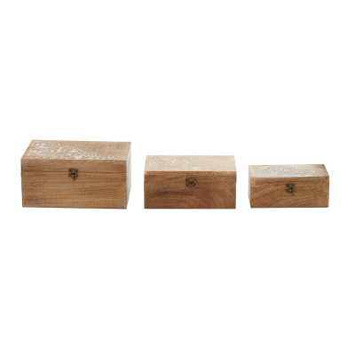 Latife Wooden 3 Piece Decorative Box Set - Wayfair
