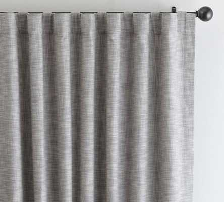 "Seaton Textured Drape, 50 x 108"", Gray - Pottery Barn"