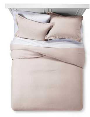 Lightweight Linen Duvet Cover Set - Fieldcrest® - Full/Queen - Target