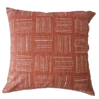 "MACEO GEOMETRIC PILLOW SIERRA, 20"" with Down Insert - Linen & Seam"