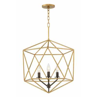 GEOMETRIC GEM CHANDELIER - 3 LIGHT - Shades of Light