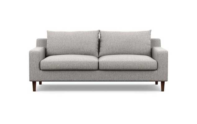 Sloan Sofa in Earth Fabric with Oiled Walnut Tapered Square Wood Legs- 91'' - Interior Define