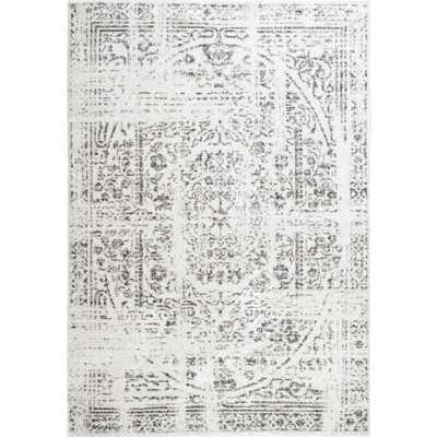 Arlena Distressed Persian Medallion Gray 12 ft. x 15 ft. Area Rug - Home Depot