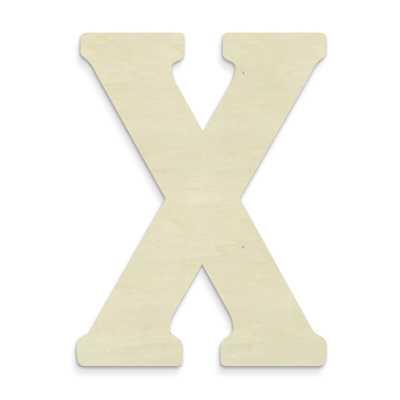 Janessa Large Wood Letter Hanging Initials-X - Wayfair