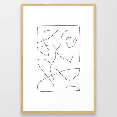 """Abstract Figure One Line Art - 26""""x38"""" - Society6"""