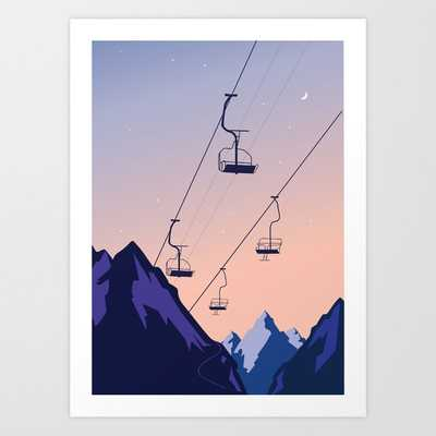 Chair lift sunset Art Print - Society6