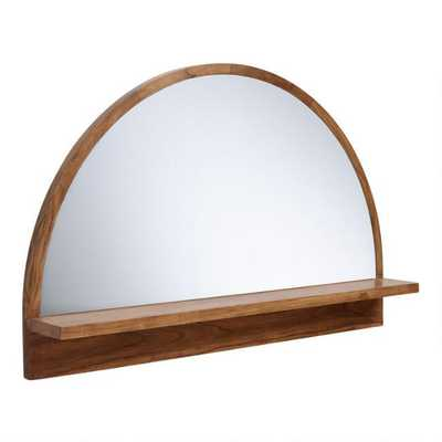 Half Round Mirror With Acacia Wood Shelf - World Market/Cost Plus
