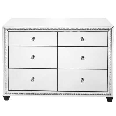 Laster Crystal 6 Drawers Double dresser - Wayfair