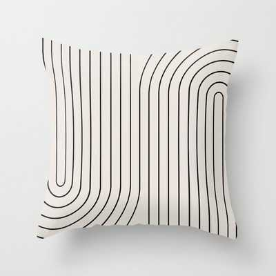 Minimal Line Curvature - Black and White I Throw Pillow - Society6