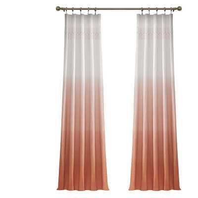 Higbee 100% Cotton Ombre Semi-Sheer Rod Pocket Single Curtain Panel - Wayfair