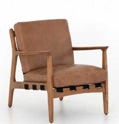 KENNETH LEATHER CHAIR, COPPER - Lulu and Georgia