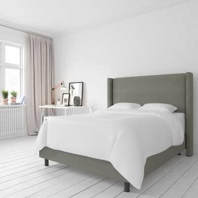 Sanford Upholstered Standard Bed Grey Queen - Wayfair