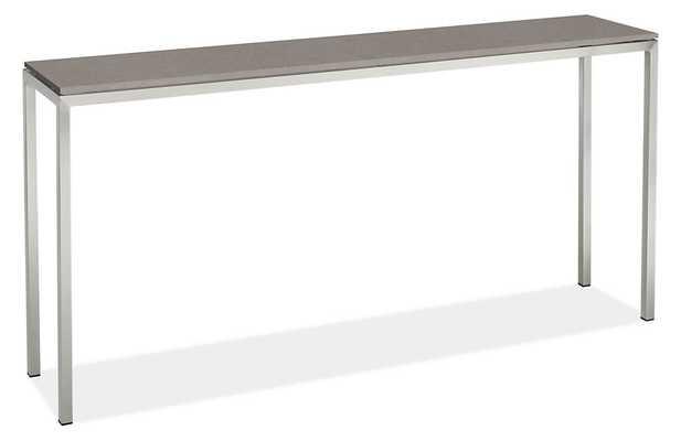 Portica 60w 12d 29h Console Table - Fog quartz composite - Room & Board