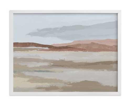 "Blushing Expanse - 24"" x 18"", white wood frame - Minted"