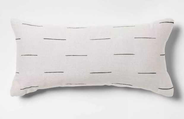 Silk Blend Dash Oversize Lumbar Throw Pillow - Project 62™ (Cream) - Target