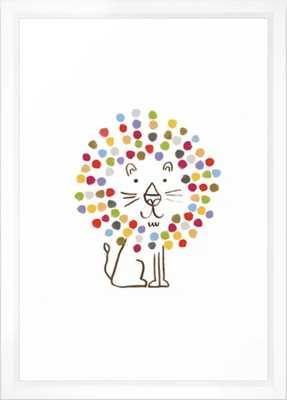 """Dandy Lion Framed Art Print - 15 x 21"""", vector white frame - Society6"""